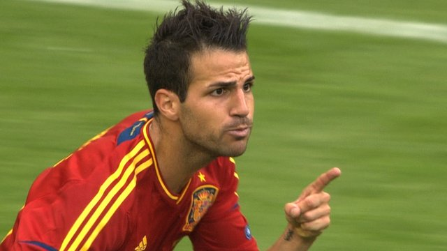 Spain&#039;s Cesc Fabregas