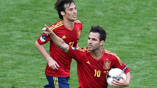 David Silva and Cesc Fabregas