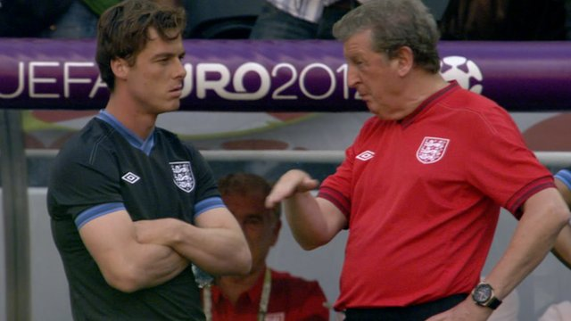 England manager Roy Hodgson and midfielder Scott Parker