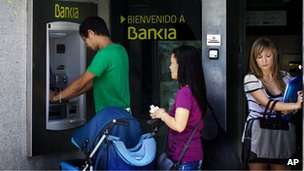 Bankia cashpoint in Madrid