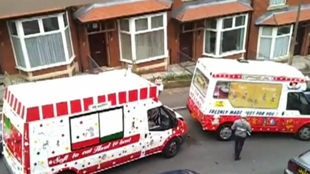 Ice cream vans involved in the altercation
