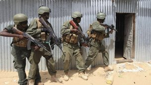 Somali forces in Elasha, 2 June