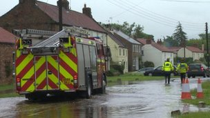 Flooding in Flaxton