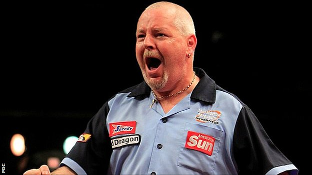 UK Open darts champion Robert Thornton