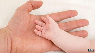 Father&#039;s and baby&#039;s hands