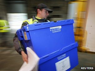 Ballot box in Edinburgh in recent elections