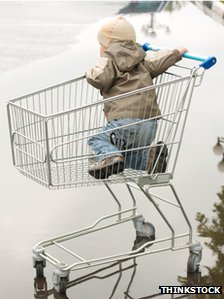 Child in a trolley