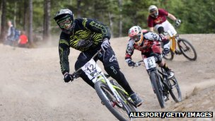4X riders at UCI Mountain Bike World Cup