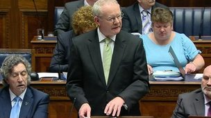 Martin McGuinness at Stormont