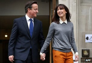 David and Samantha Cameron in May