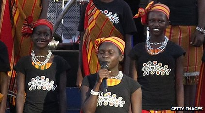 Sing being performed at the Diamond Jubilee concert