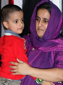 Sahil Saeed (l) and his mother Akila Naqqash