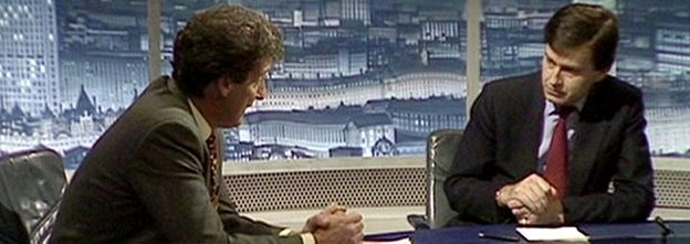 Stephen Dorrell on Newsnight in September 1992