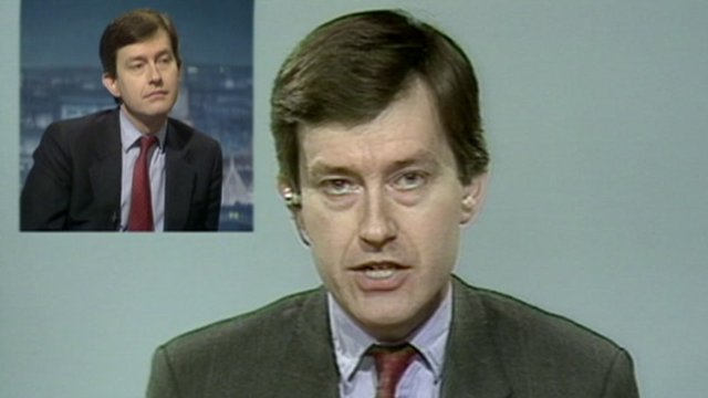 Stephen Dorrell was played a pre-ERM crisis interview during a Newsnight appearance in 1992
