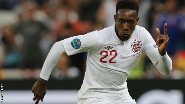 Danny Welbeck playing against France