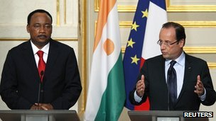 President Mahamadou Issoufou and President Francois Hollande