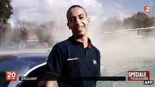 Mohamed Merah in a grab from an undated piece of video made before his attacks