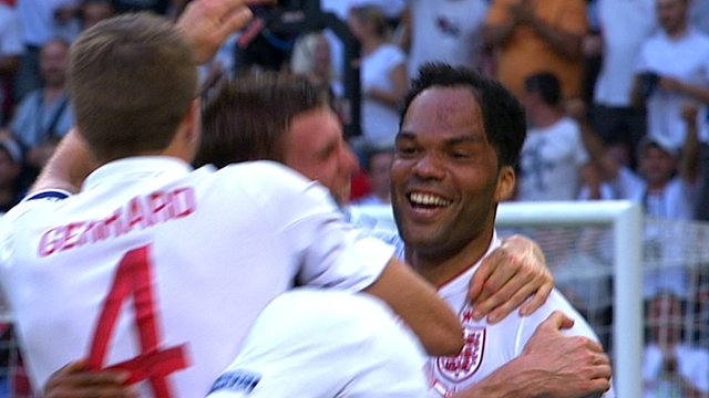 Joleon Lescott gives England the lead
