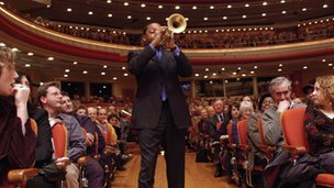 Wynton Marsalis performing at Symphony Hall