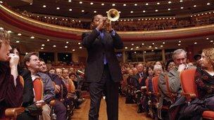 Wynton Marsalis performing at Symphony Hall