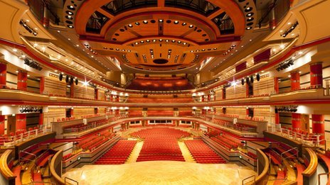 Inside Symphony Hall in Birmingham