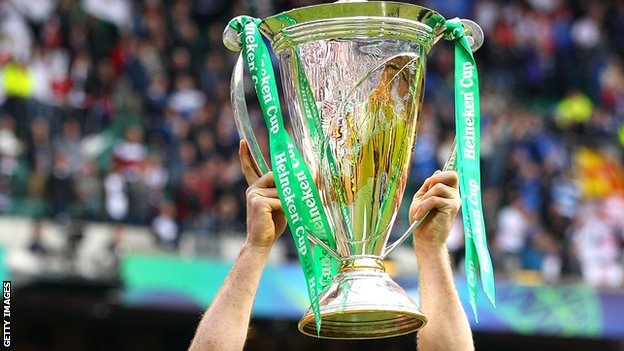 Heineken Cup held aloft