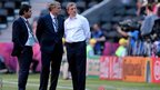 England manager Roy Hodgson (right)