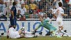 Samir Nasri scores for France