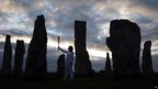 Torchbearer Kirsty Wade at the Callanish Standing Stones