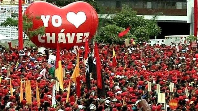 Pro-Chavez rally in Caracas