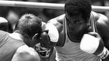 Teofilo Stevenson (right) punches goes  Soviet opponent Pyotr Zaev to win the heavyweight bout at the Moscow Olympics.