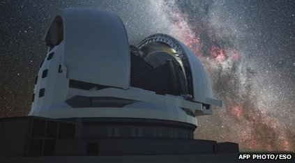 Artist's impression of European Extremely Large Telescope
