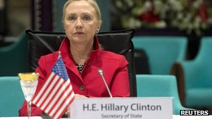 US Secretary of State Hillary Clinton attends a Friends of Syria meeting in Istanbul on 6 June 2012