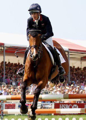 Mary King riding Imperial Cavalier at Badminton in 2011