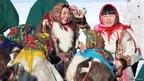Nenets women at a spring festival in the Tazovsky district