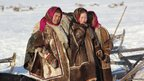 Young Nenets girls from Reindeer Brigade Number 4