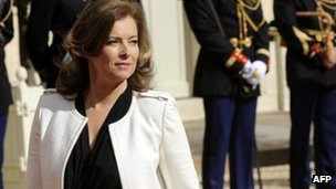 Valerie Trierweiler, companion of France's president-elect Francois Hollande arrives at the Elysee presidential Palace in Paris, May 15, 2012