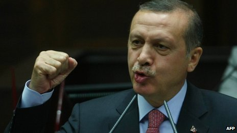 Turkey's Prime Minister Recep Tayyip Erdogan addresses parliament in Ankara on 12 June 2012 and announces that Kurdish can be taught in Turkish schools for the first time.
