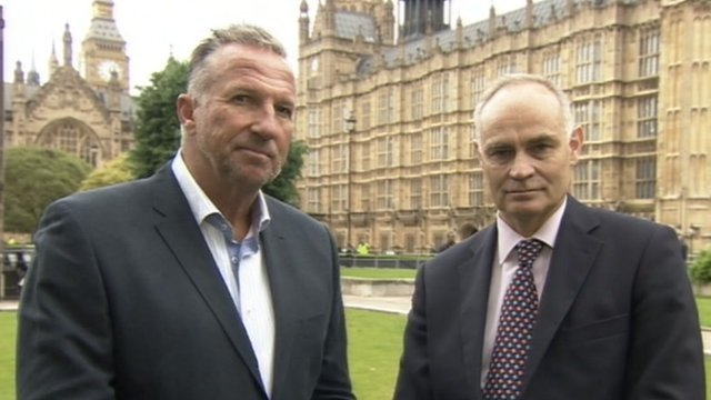 Ian Botham and Crispin Blunt