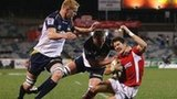 Wales fly-half James Hook scores against ACT Brumbies
