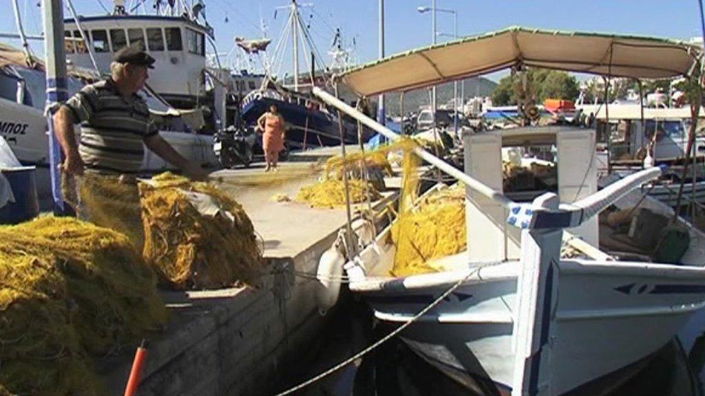 A fisherman in Greece