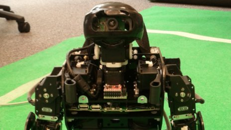 Plymouth University's humanoid ninja-style robot. Pic: Phil Culverhouse, University of Plymouth