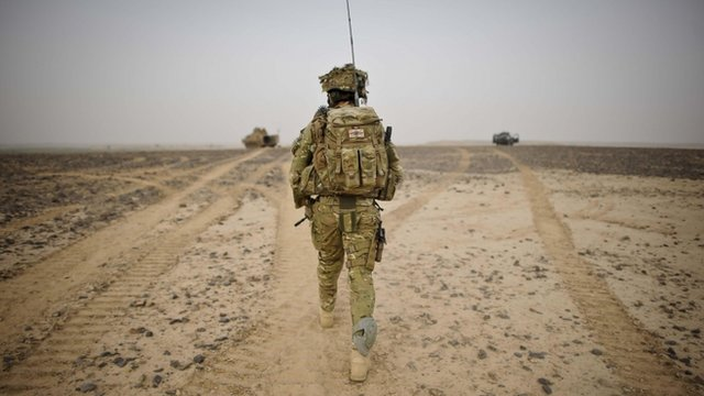 British Army Officer from 1st Battalion Princess of Wales Royal Regiment in Afghanistan