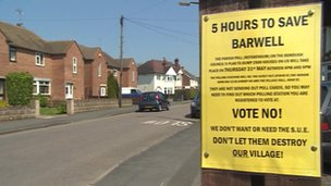 Sign for Barwell referendum