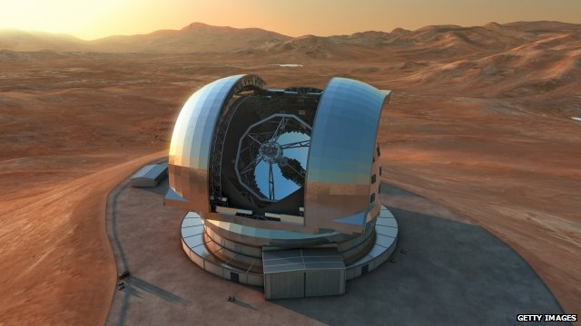 Artist's impression  if giant telescope