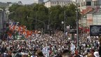 Protesters in Moscow
