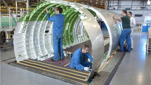 2012 Challenger 605 fuselage assembly