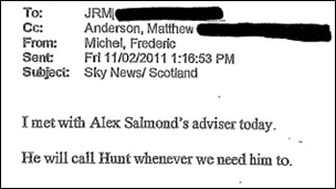 Email to Leveson Inquiry