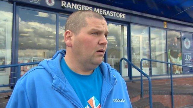 A Rangers fan