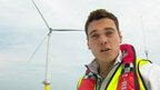 Joe at the London Array wind farm